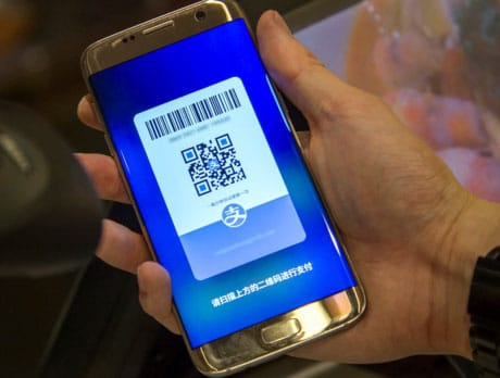 Making an Alipay payment backed by Samsung Pay