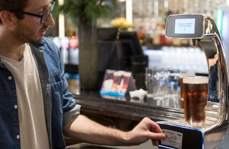 Barclaycard contactless self-serve beer pump