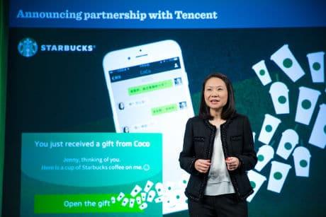 Starbucks China CEO Belinda Wong announces WeChat Pay partnership