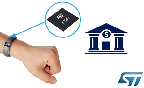 STMicroelectronics turnkey solution for wearable payments