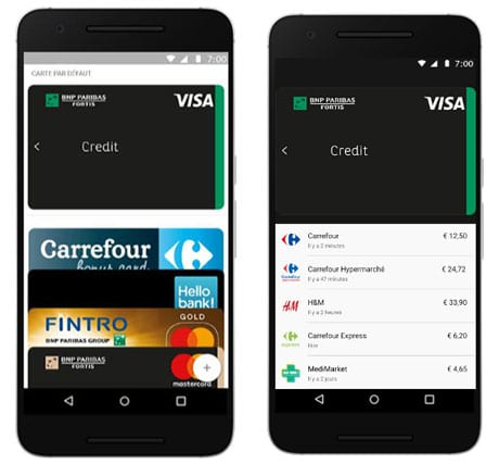 Android Pay in Belgium