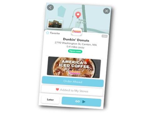 Dunkin' Donuts Waze app