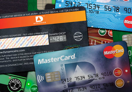 Dynamics' multi-function payment cards