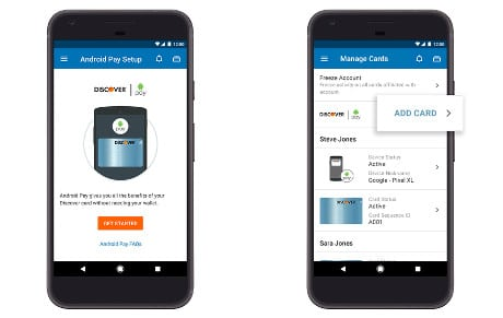 Android Pay mobile banking