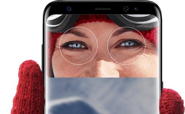 Samsung Galaxy S8 iris recognition