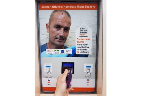 SOS Bristol contactless donations