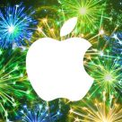 NFC World's Apple fireworks graphic
