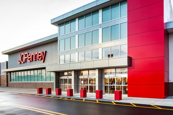 A JCPenney storefront in Brooklyn