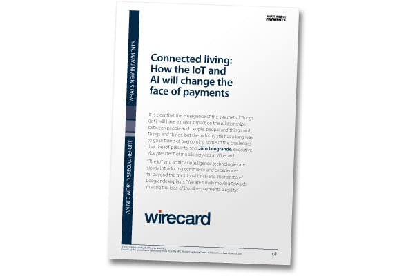 "Covershot: ""Connected living: How the IoT and AI will change the face of payments"""