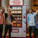 The Versailles four-piece and their contactless Super Mercato Phoenix vending machine