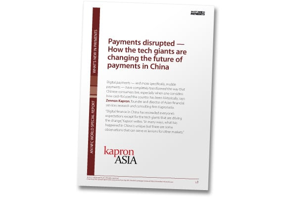 Cover of 'Payments disrupted — How the tech giants are changing the future of payments in China'