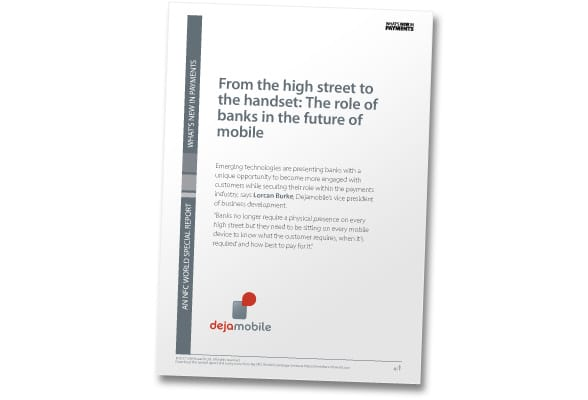 "Cover shot: ""From the High Street to the Handset: The Role of Banks in the Future of Mobile"""