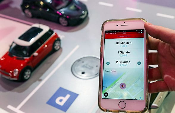 An app allows drivers to book and pay for parking spots in Bonn