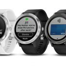 Garmin Vivoactive 3 smartwatches in three colours