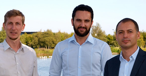 Dejamobile founders Bertrand Pladeau, Ahmad Saif and Houssem Assadi