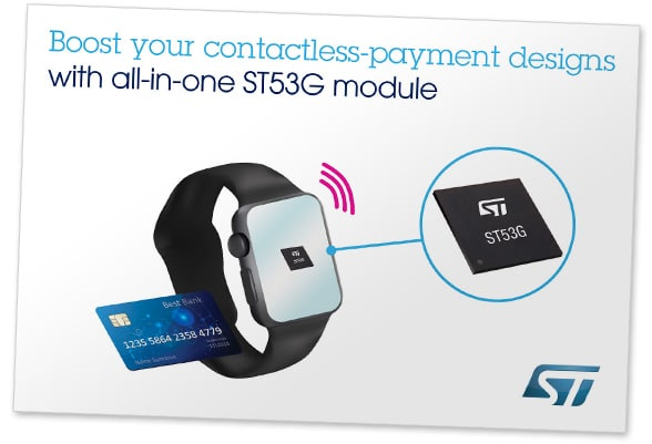 STMicroelectronics' ST53G secure module for wearables