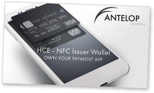 Covershot: Antelop HCE-NFC Issuer Wallet presentation