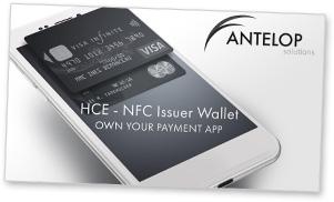 Covershot: Antelop HCE-NFC Issuer Wallet presentation