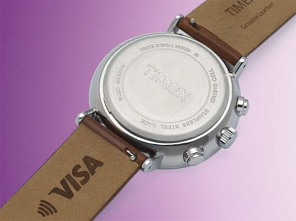 Timex's Fairfield Chronograph features bPay built into the strap