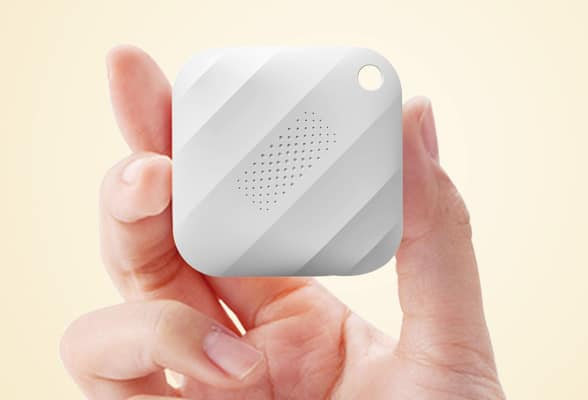 An Okey is 38mm square and encapsulates a USB port, rechargeable battery, NFC, Bluetooth LE and a secure element