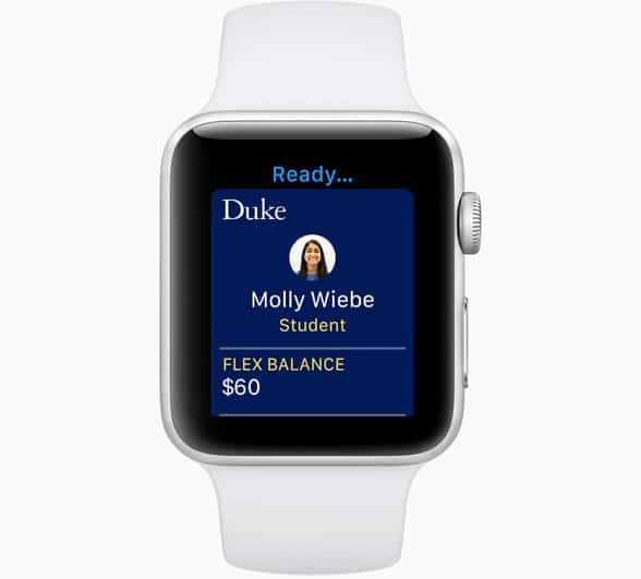 Apple Watch can now be used to replace student ID cards