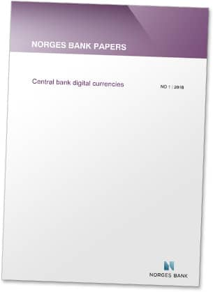 Covershot: 'Norges Bank Papers — Central Bank Digital Currencies' white paper
