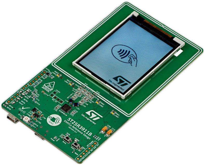 ST has 10 ST25R3911B-EMVCo reference design POS developer kits to give away