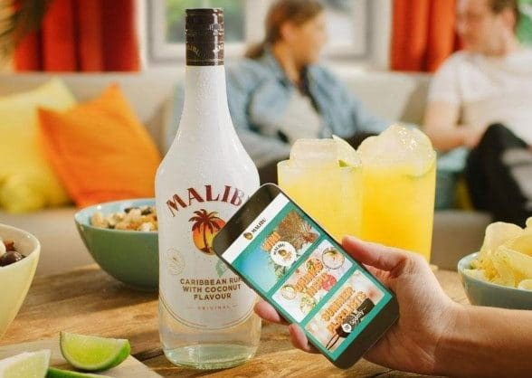 Malibu is using NFC tags on connected bottles