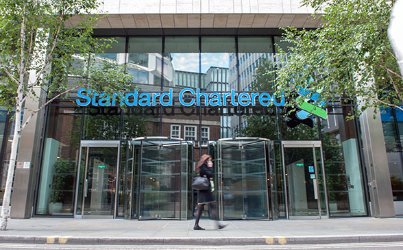Standard Chartered's head office in London, UK