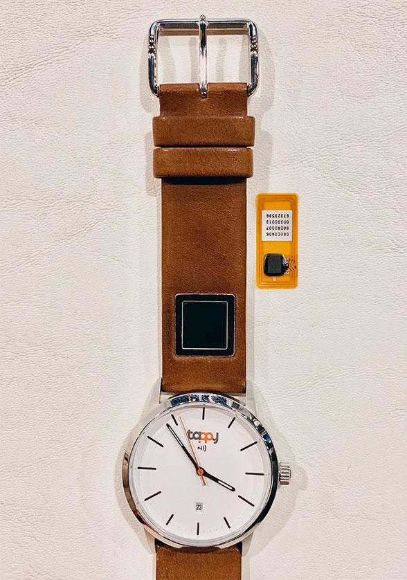 Tappy's fingerprint sensor watch strap