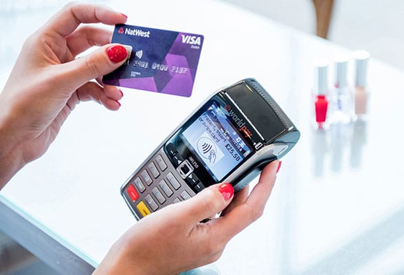 A contactless payment using a Worldpay terminal