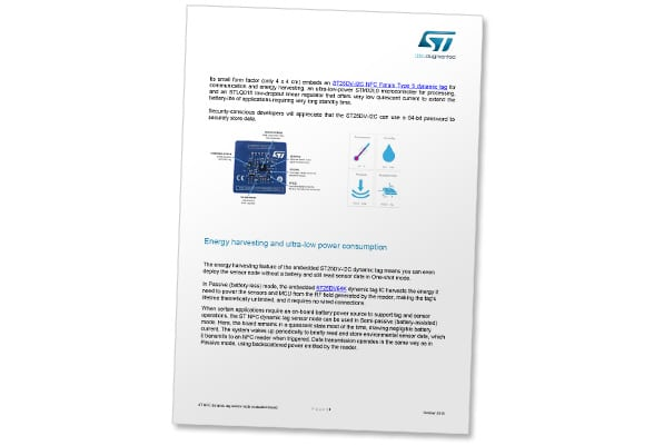 Covershot: Introducing the ST NFC dynamic tag sensor node evaluation board for smart tracking systems
