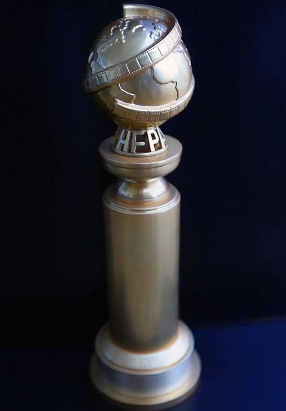 The Golden Globes trophy includes an NFC tag in 2019