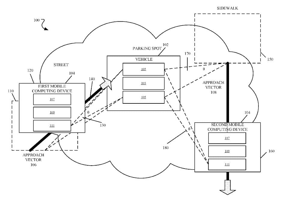 A diagram from Apple's patent application