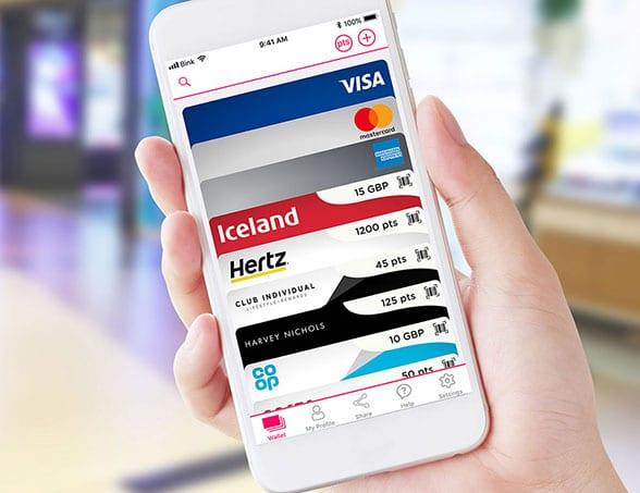 A Bink Wallet full of virtual loyalty cards