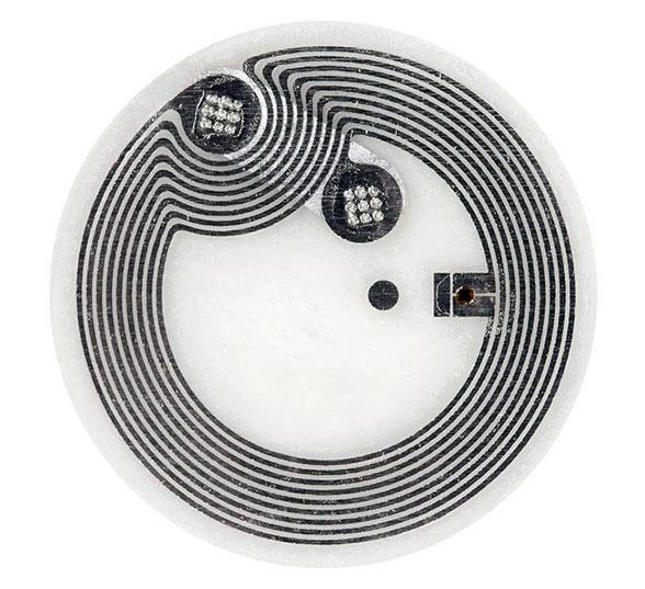 Identiv's Dry Inlay NXP NTAG210μ NFC tag