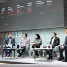 Sarah Clark, Rob Morgan, Brian Pemberton, Valerie Gleize, André Lovestam and Wayne Leung at MWC Barcelona