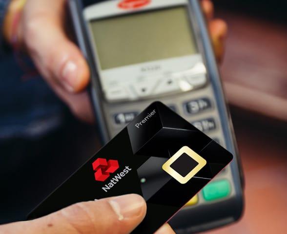Natwest biometric fingerprint bankcard and reader