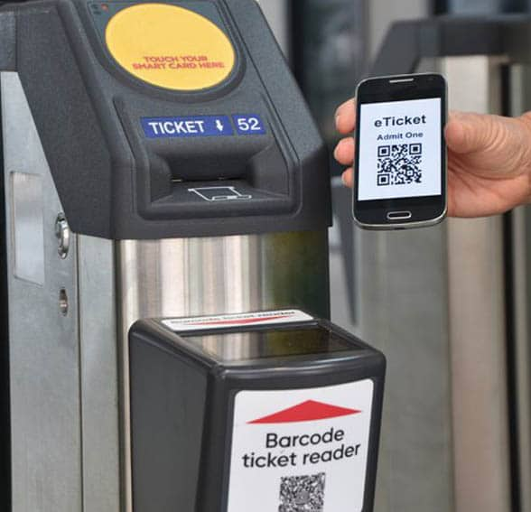 Mobile phone and smart ticketing reader