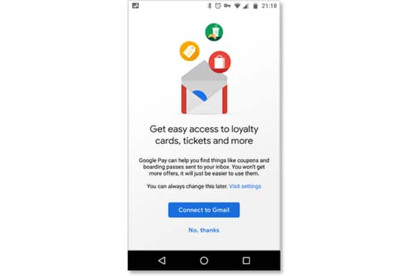 Google Pay can now watch Gmail inboxes and add any cards, passes and coupons it finds