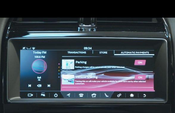 Jaguar Land Rover dashboard