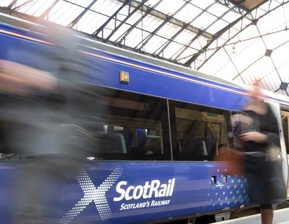 ScotRail train at platform