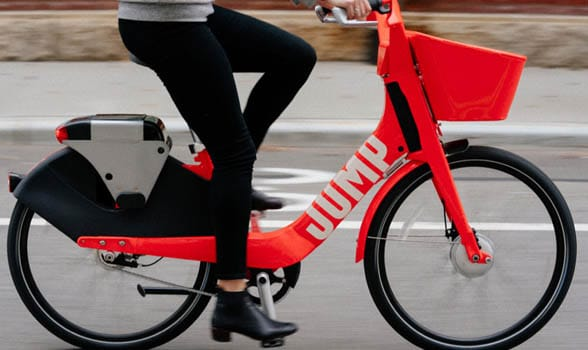 Red Jump bicycle