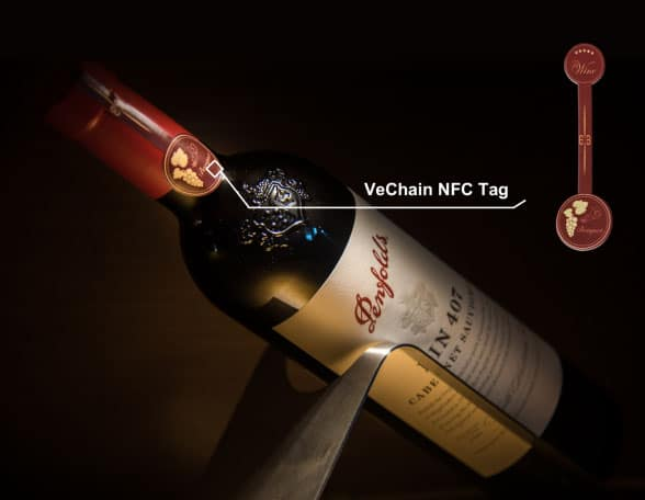 NFC wine bottle cap