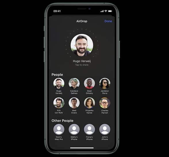 Apple iPhone 11 screen with headshots