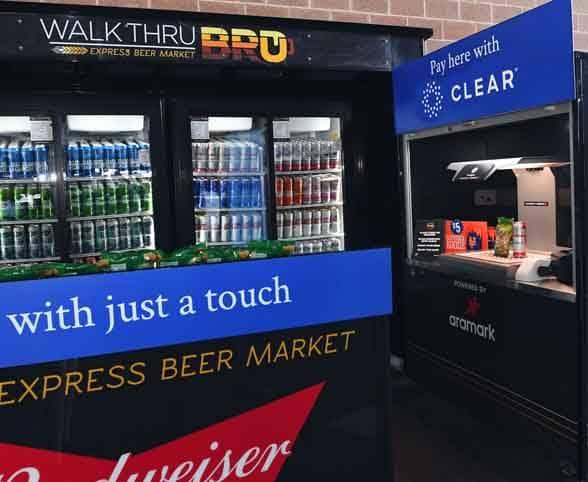 New York Mets Walk Thru Bru self checkout kiosk