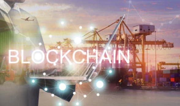 Graphic with Blockchain overlaid