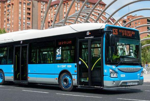 An EMT bus in Madrid