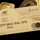 Raris 18-karat gold debit card