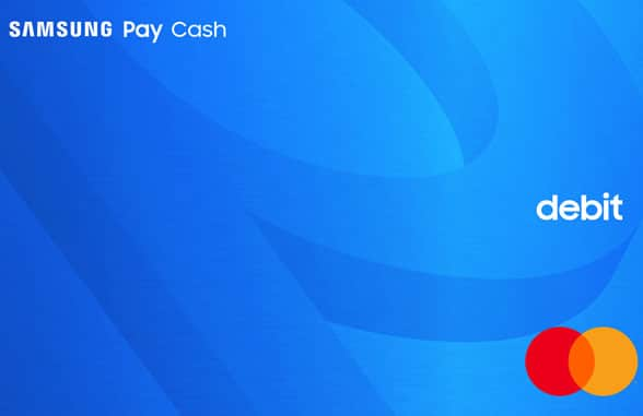 Samsung Pay Cash wording with Mastercard logo and debit